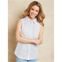 Sleeveless Pintuck Blouse