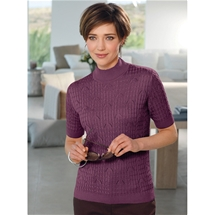 Cable Knit Short Sleeve