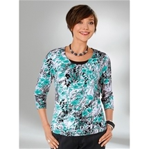 Gathered Neckline Floral Top