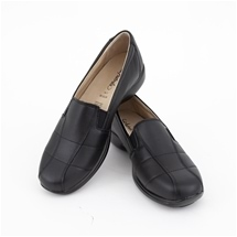 Black Genuine Leather Comfort Shoes