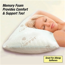 Copper Memory Foam Pillow