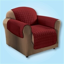 Quilted Cover Burgundy - Chair