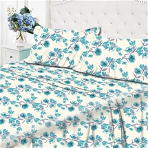 Queen Hayley Floral Thermal Flanelette Sheet Set