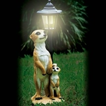 Mother & Child Meerkat Solar Light