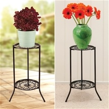 Wrought-Iron Look Plant Stand