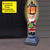 Santa LED Lamp Post
