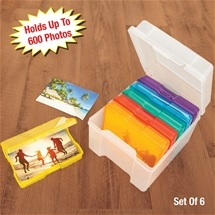 Photo Storage Box Set of 6