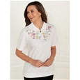 Embroidered Zip Polo_19C07_1