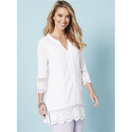 Embroidered Hem Tunic