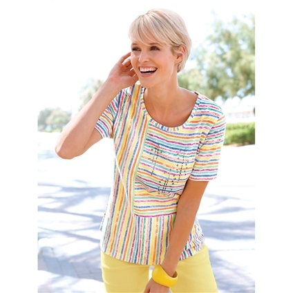 Sunshine Mixed Stripe Tee